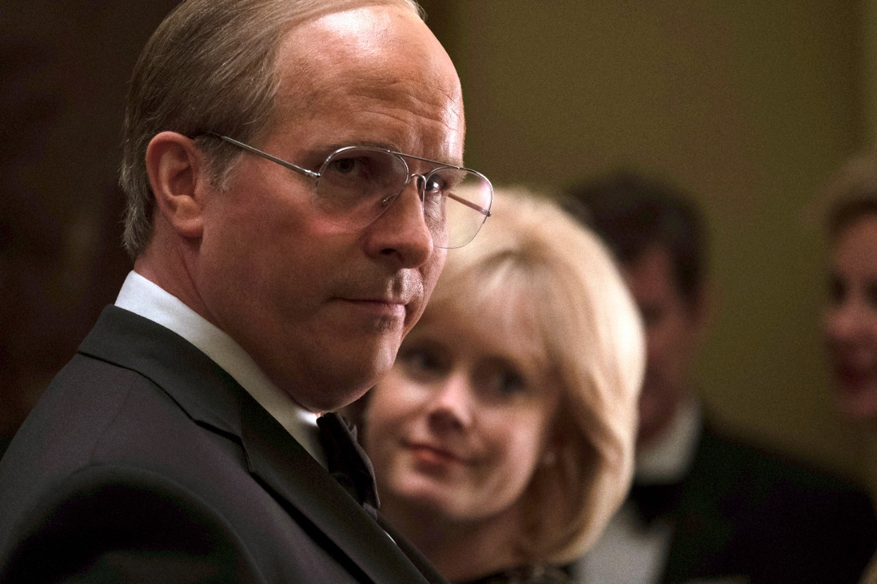 Christian Bale as Dick Cheney, left, and Amy Adams as Lynne Cheney in 'Vice.' (Matt Kennedy / Annapurna Pictures via AP)