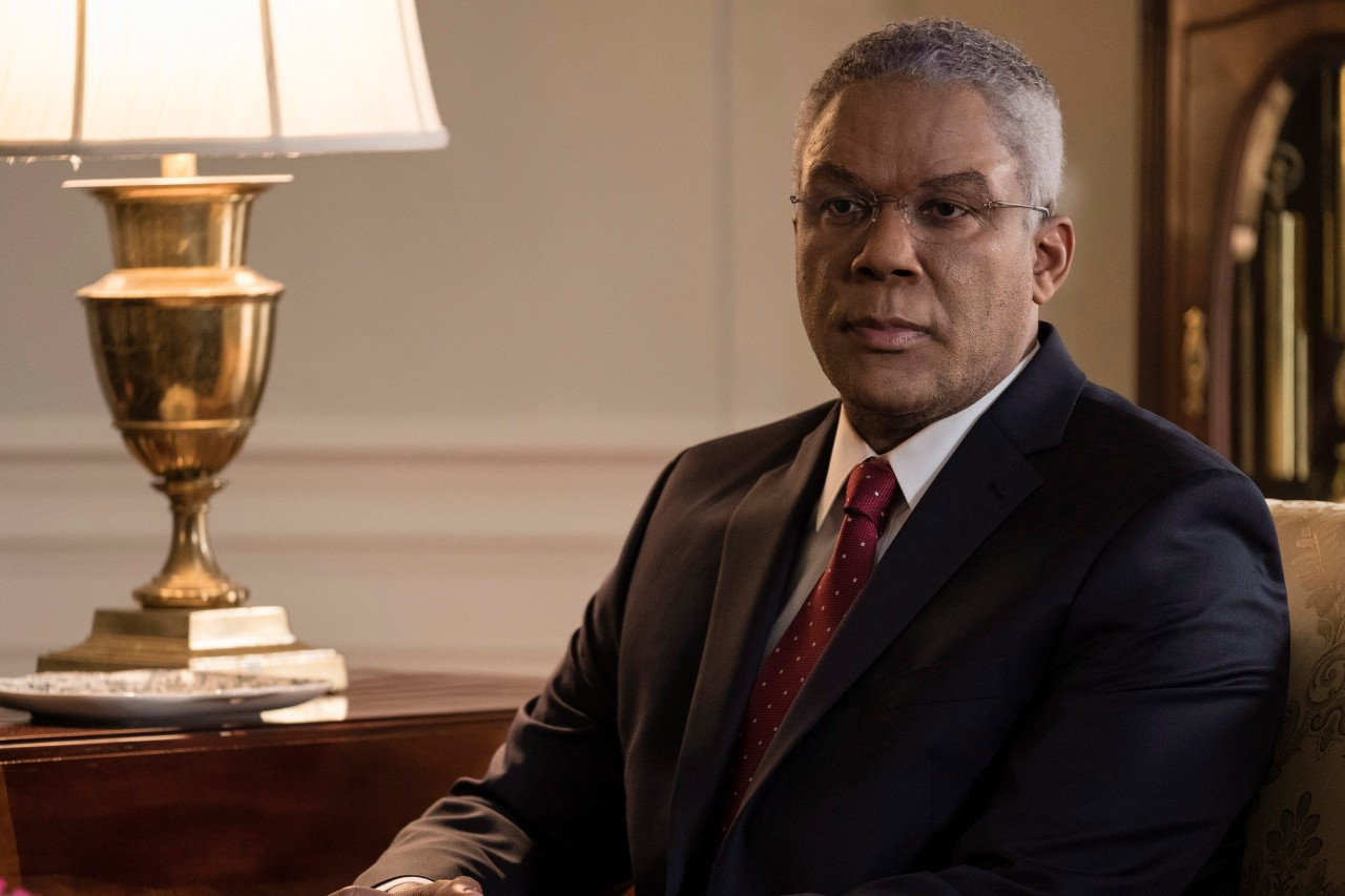 Tyler Perry as Colin Powell in a scene from 'Vice.' (Matt Kennedy / Annapurna Pictures via AP)