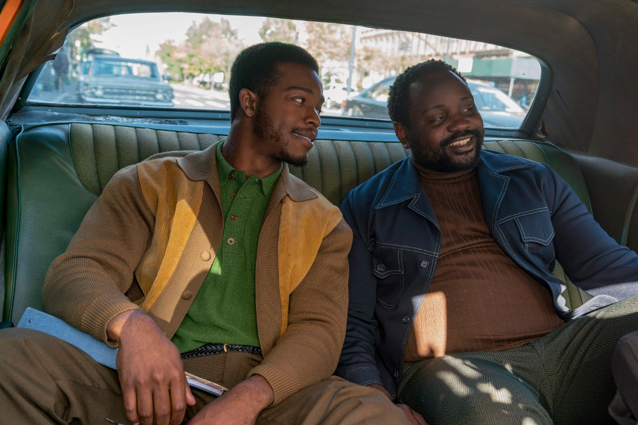 Stephan James, left, and Brian Tyree Henry in 'If Beale Street Could Talk.' (Tatum Mangus / Annapurna Pictures via AP)