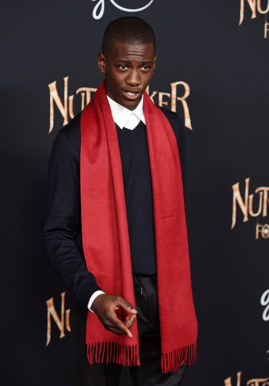 Jayden Fowora-Knight at 'The Nutcracker and the Four Realms' premiere in Los Angeles, on Oct. 29, 2018. (Chris Pizzello / Invision / AP)