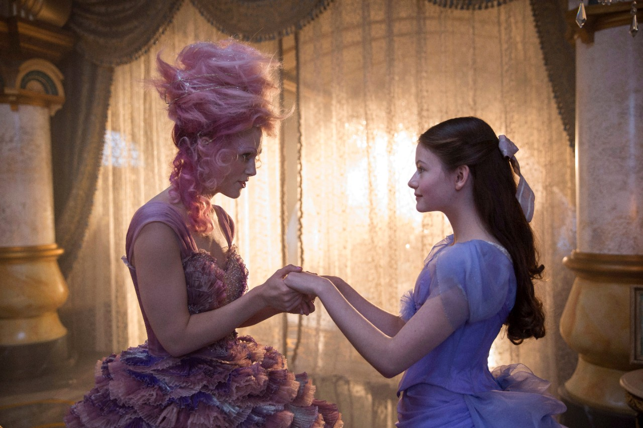 Keira Knightley, left, and Mackenzie Foy in a scene from 'The Nutcracker and the Four Realms.' (Laurie Sparham / Disney via AP)