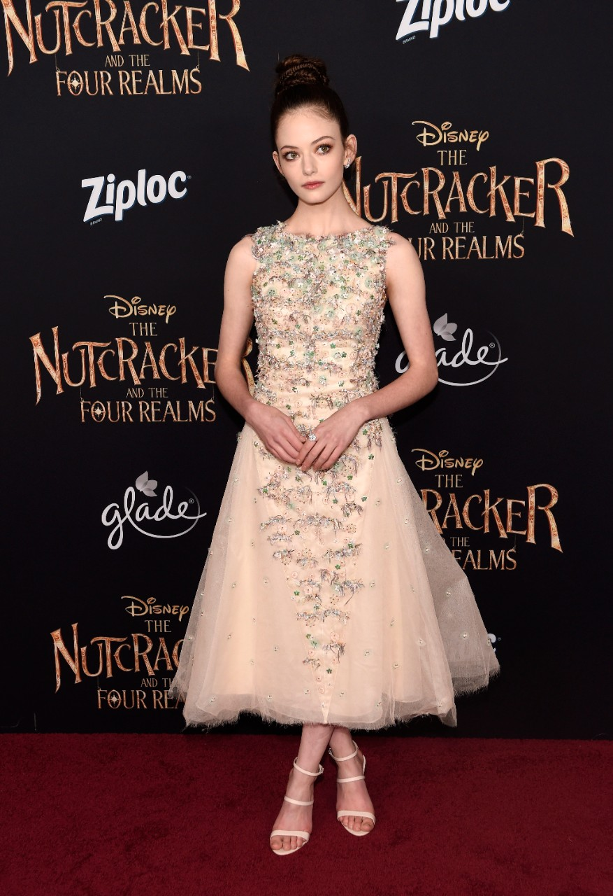 Mackenzie Foy, a cast member in 'The Nutcracker and the Four Realms,' at the Dolby Theatre in L.A., on Oct. 29, 2018. (Chris Pizzello / Invision / AP)