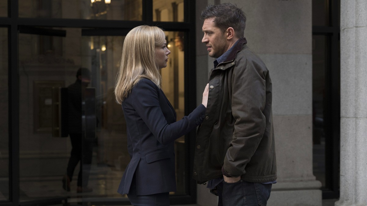 Michelle Williams and Tom Hardy in 'Venom'