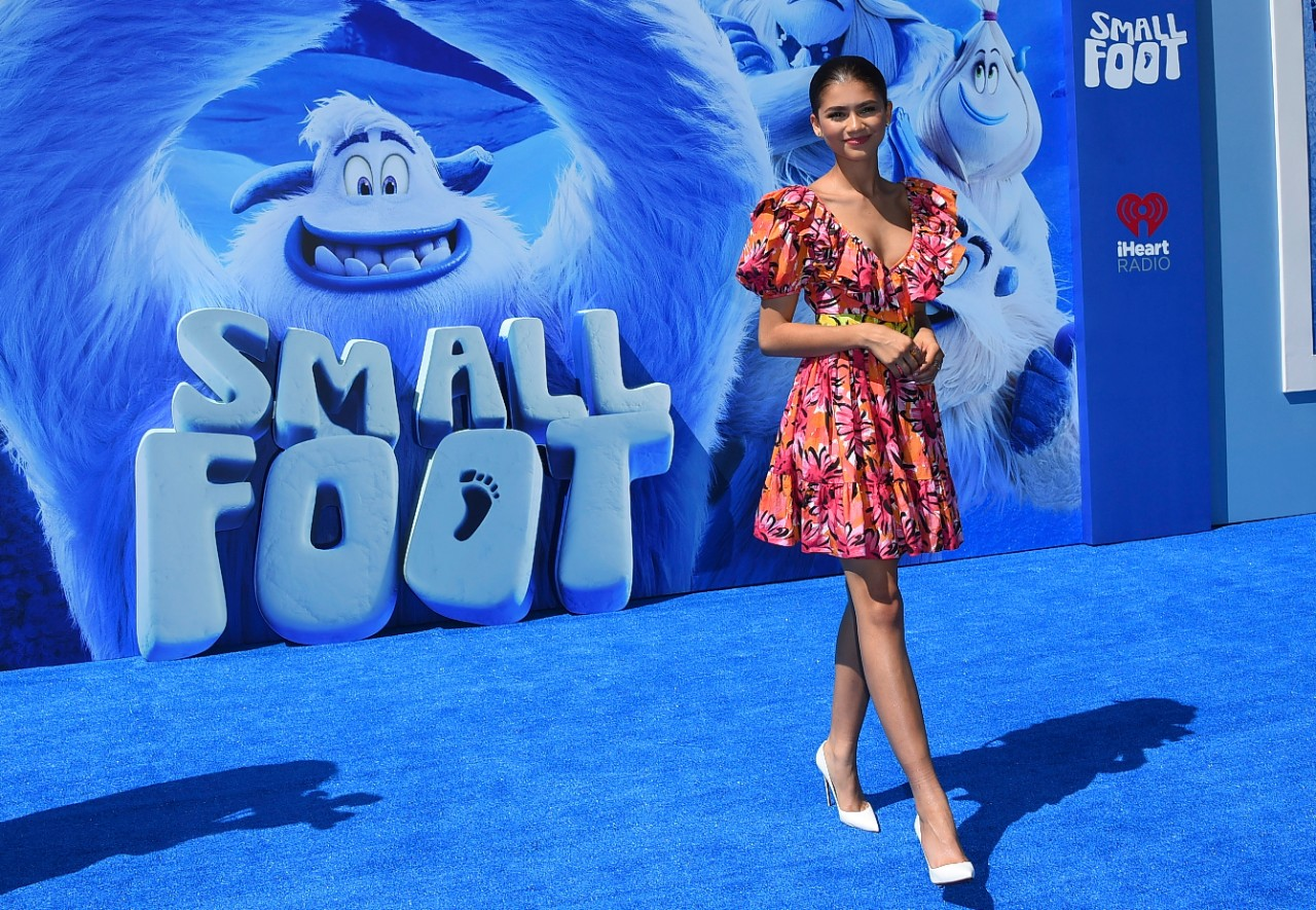 Zendaya at the world premiere of 'Small Foot'