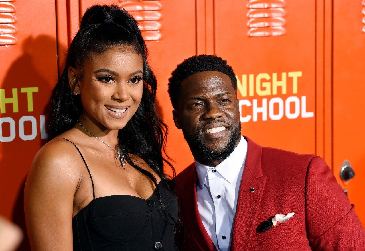 Kevin Hart and Eniko Parrish at the 'Night School' premiere