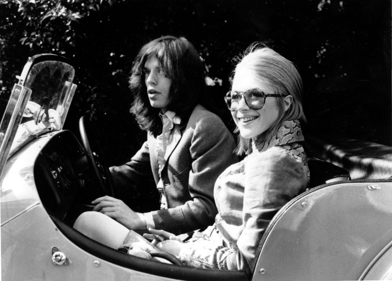 Mick Jagger and Marianne Faithfull on May 29, 1969
